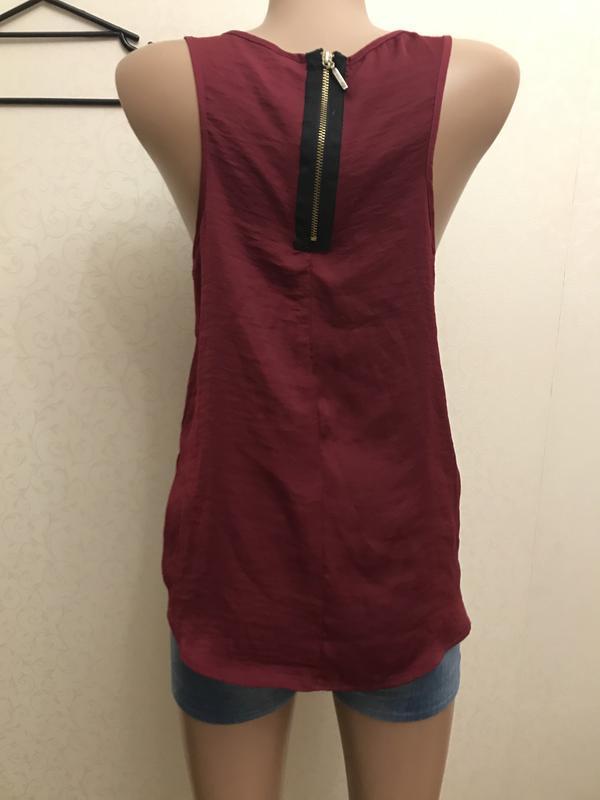 Длинная майка, блуза, красный, stradivarius - Фото 4