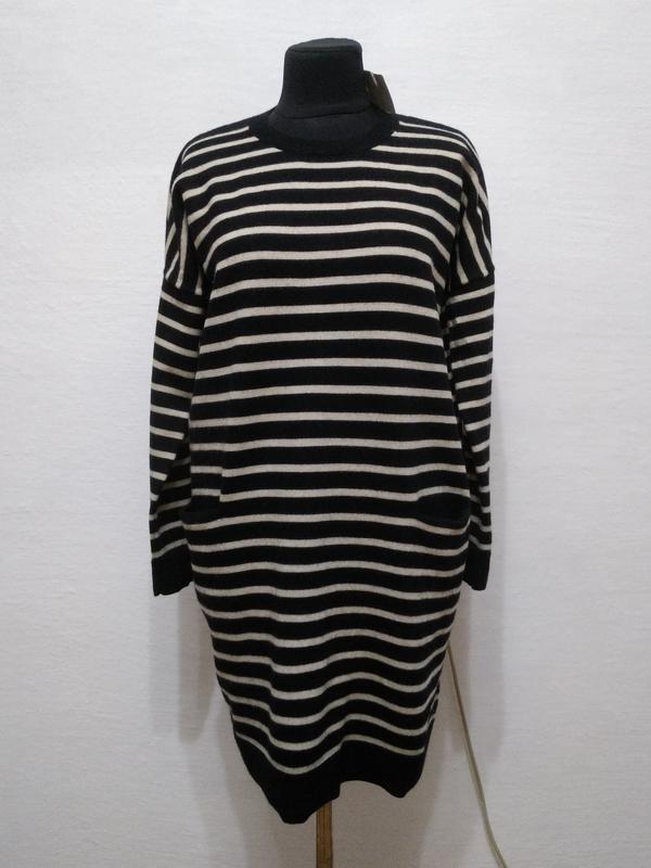 Стильное шерстяное платье - туника большого размера