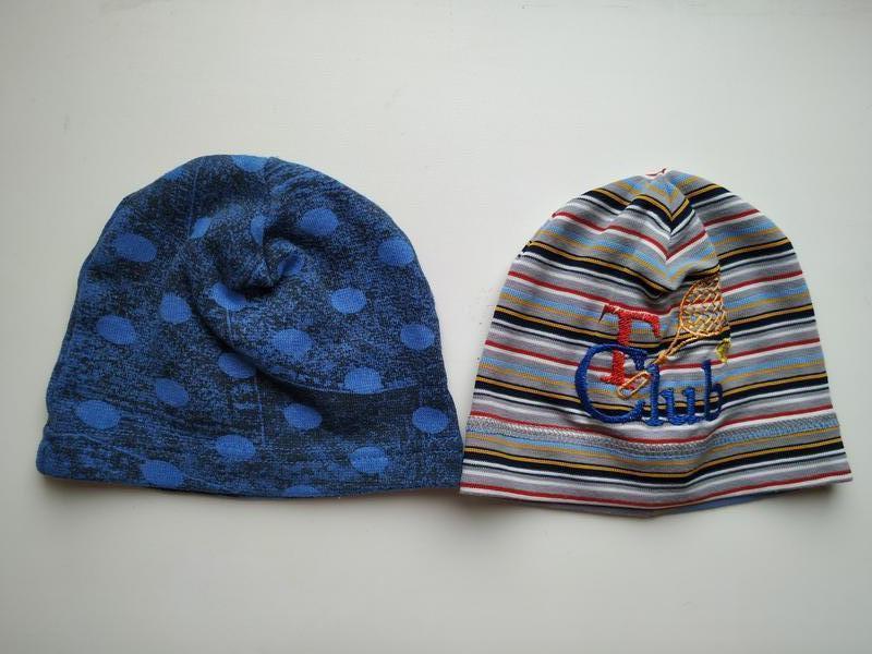 Комплект демісезонних шапочок на малючка до року