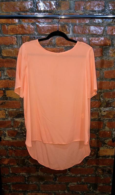 Стильная блуза топ кофточка с удлиненной спинкой papaya