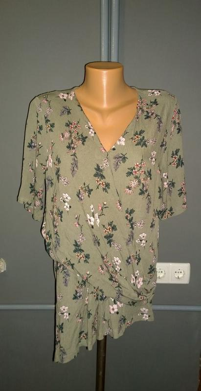 Блуза кофточка топ с драпировкой и ассиметрией marks & spencer