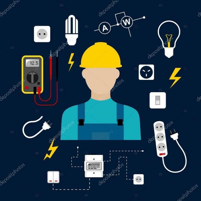Електрик, монтаж електроповодки та інтернет кабелів