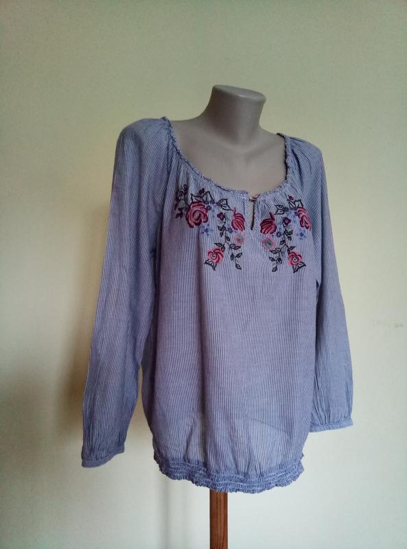 Брендовая блузочка с вышивкой
