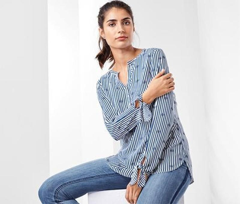 Стильная и оригинальная вискозная блузка от  tcm, tchibo, герм...
