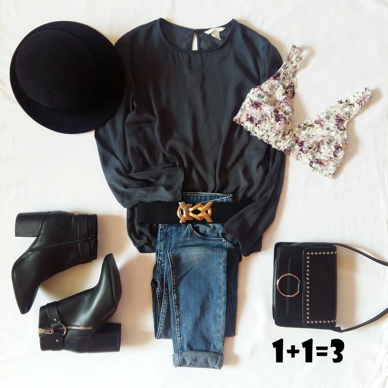 H&m базовая блузка xs-s длинный рукав свободная прямая блуза р...
