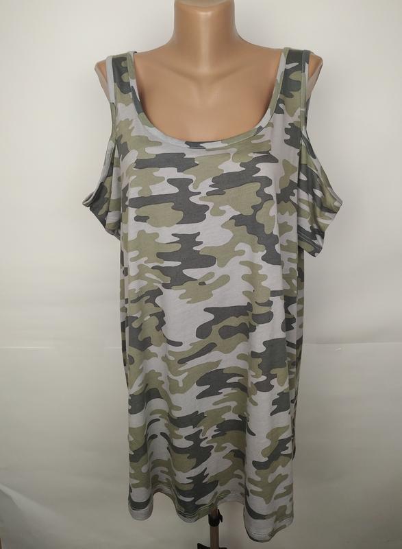 Блуза новая в стиле милитанри с открытыми плечами new look uk ...