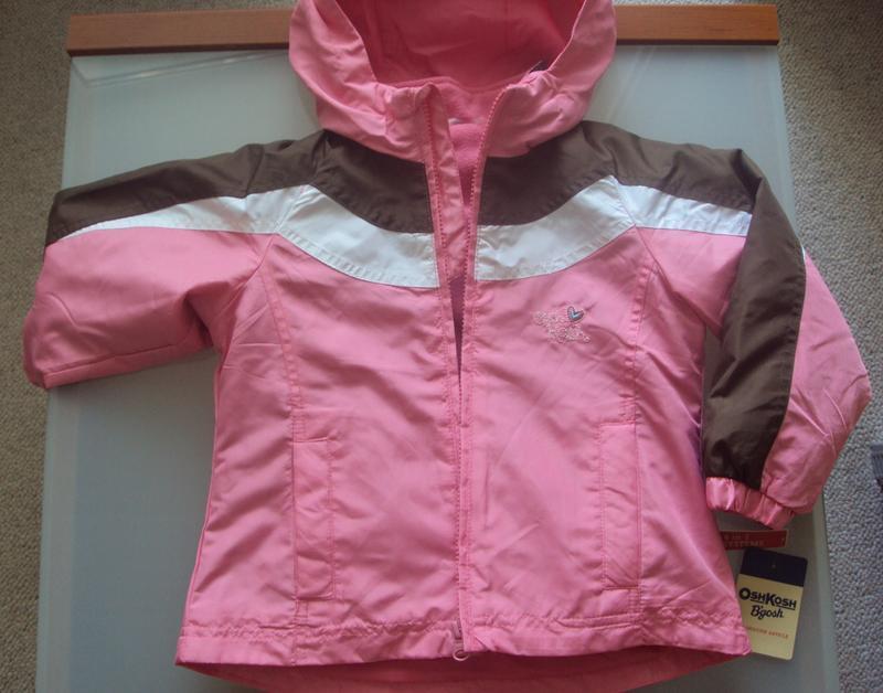 Куртка теплая демисезонная для девочки 3-в-одном, может исполь...