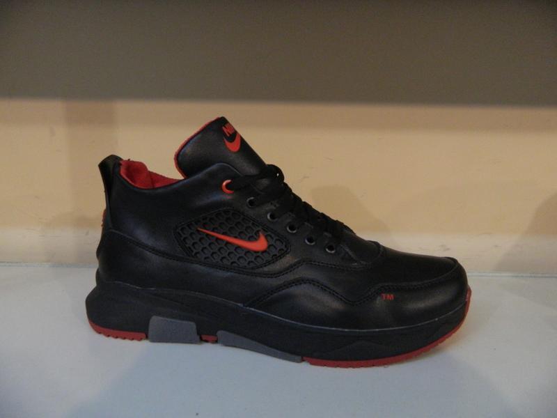 Мужские кожаные зимние ботинки/кроссовки в стиле nike обувь се...