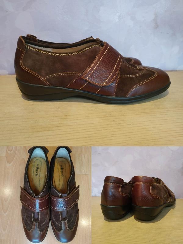 Мокасины 42-43 р туфли на липучке sofftspots
