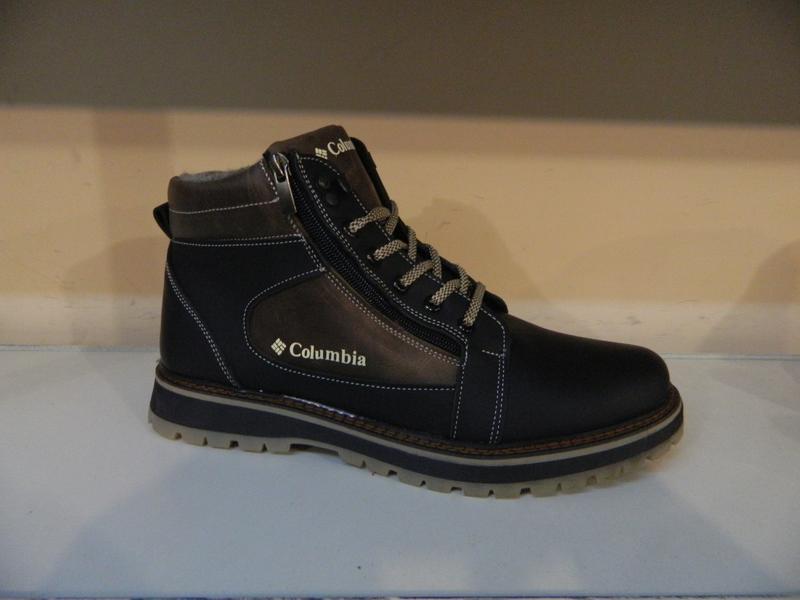 Зимние мужские ботинки на шнурках и двух молниях кожанные в ст... - Фото 2