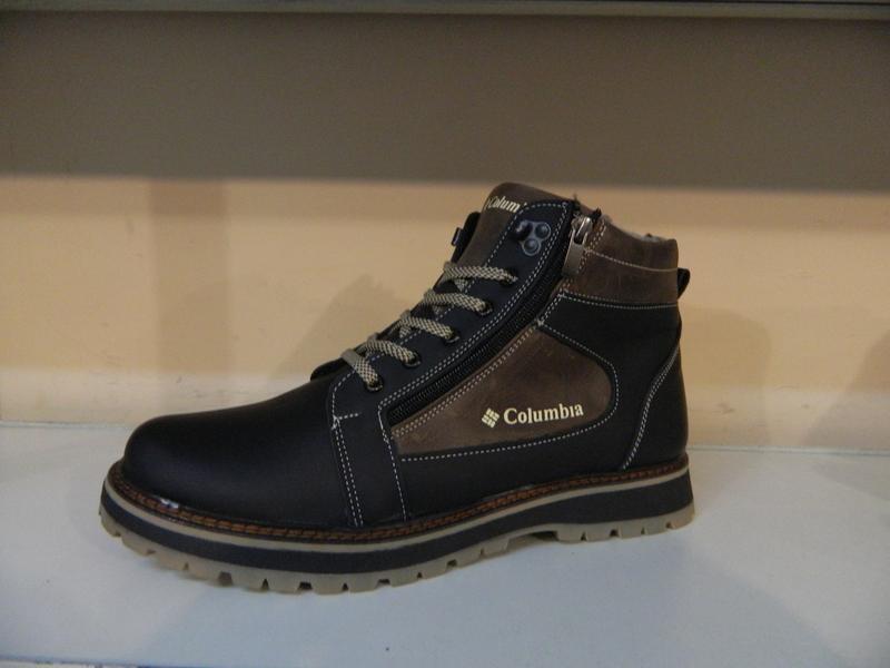 Зимние мужские ботинки на шнурках и двух молниях кожанные в ст... - Фото 4