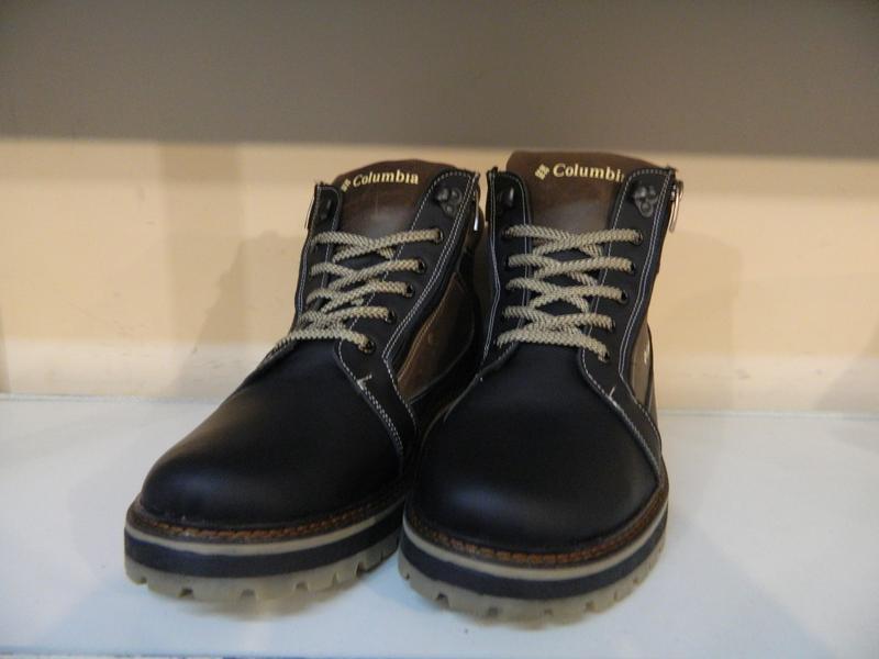 Зимние мужские ботинки на шнурках и двух молниях кожанные в ст... - Фото 6