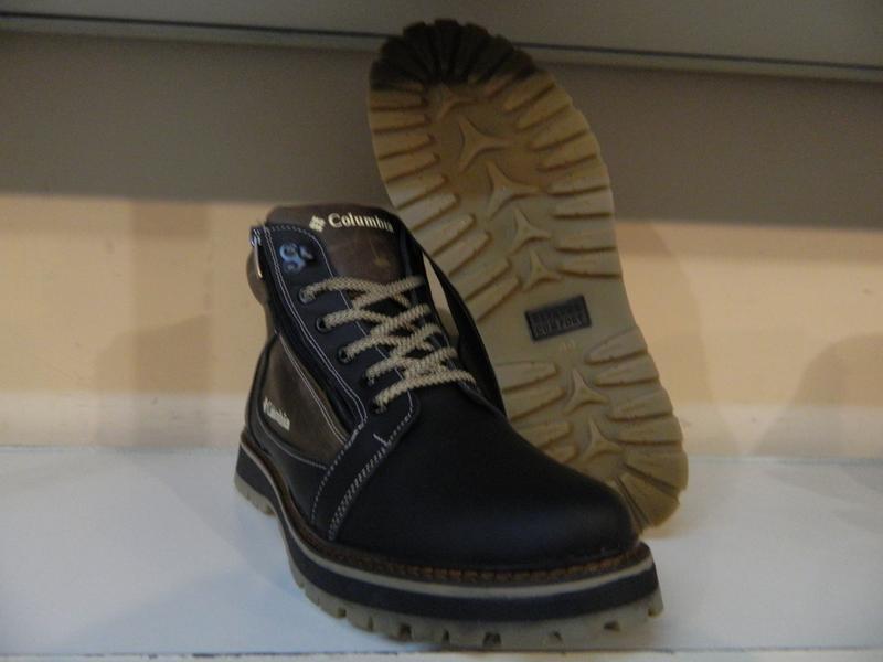 Зимние мужские ботинки на шнурках и двух молниях кожанные в ст... - Фото 8