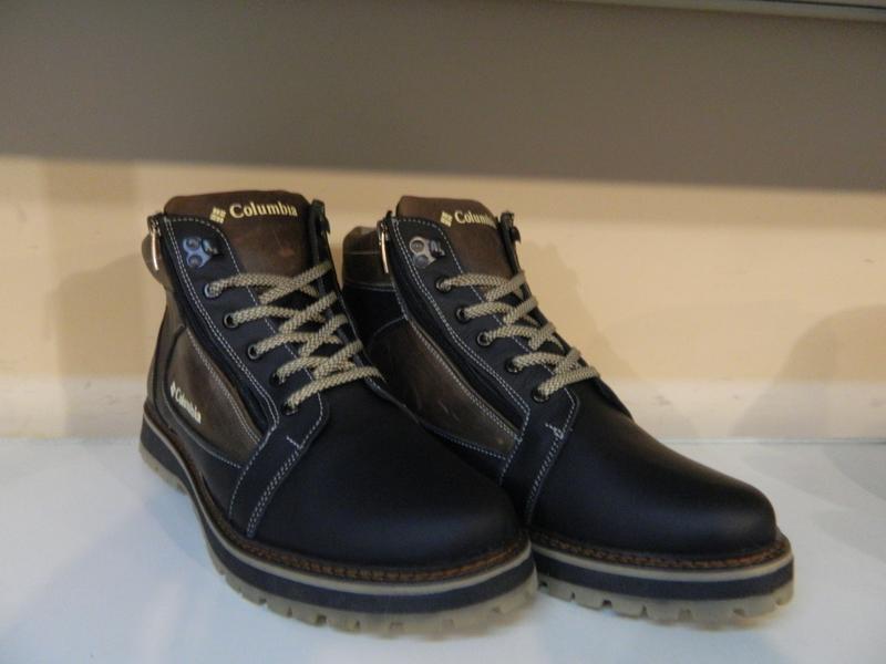Зимние мужские ботинки на шнурках и двух молниях кожанные в ст... - Фото 9