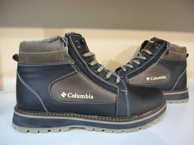 Зимние мужские ботинки на шнурках и двух молниях кожанные в ст... - Фото 3
