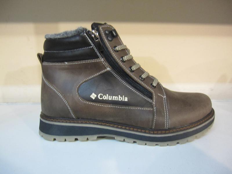 Зимние мужские ботинки на шнурках и двух молниях кожанные в ст... - Фото 5