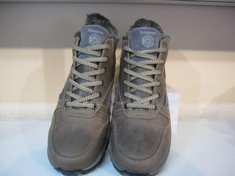 Мужские кожаные зимние ботинки/кроссовки в стиле reebok - Фото 2