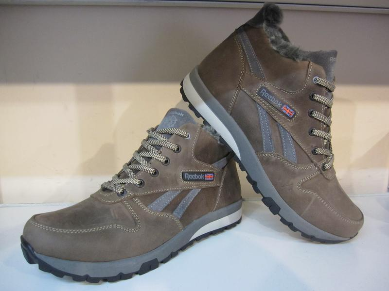 Мужские кожаные зимние ботинки/кроссовки в стиле reebok - Фото 3