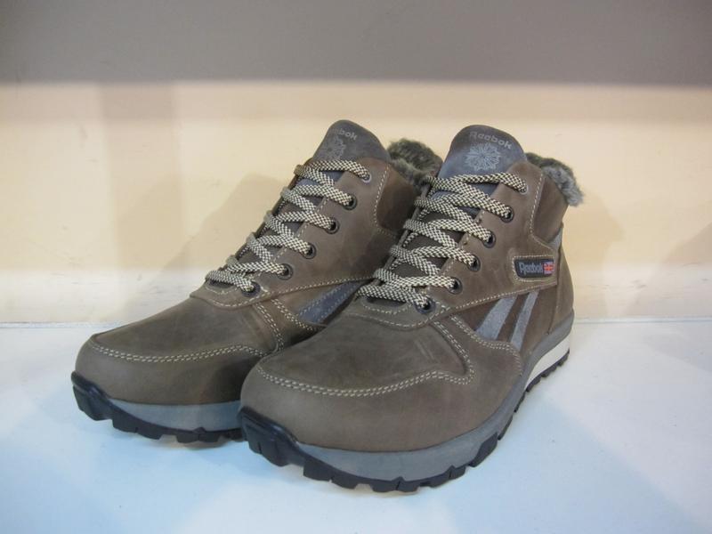 Мужские кожаные зимние ботинки/кроссовки в стиле reebok - Фото 4
