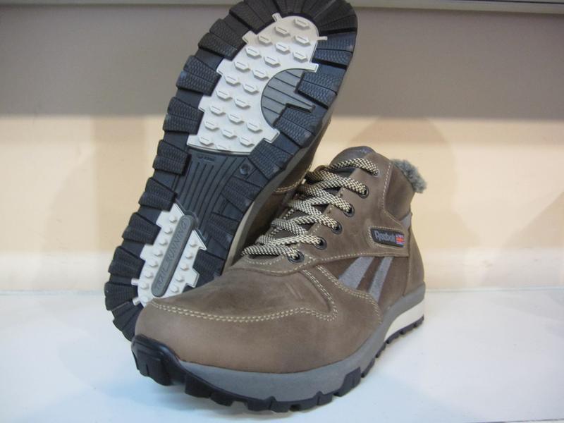 Мужские кожаные зимние ботинки/кроссовки в стиле reebok - Фото 6