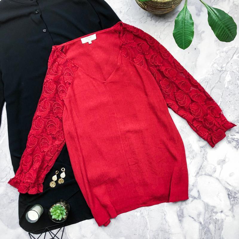 Шикарная натуральная блуза с вышитыми рукавами creed