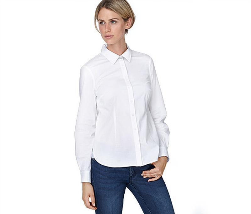 Блуза-рубашка белая, классика, tcm tchibo евро р-р 42, 44, 46 ...