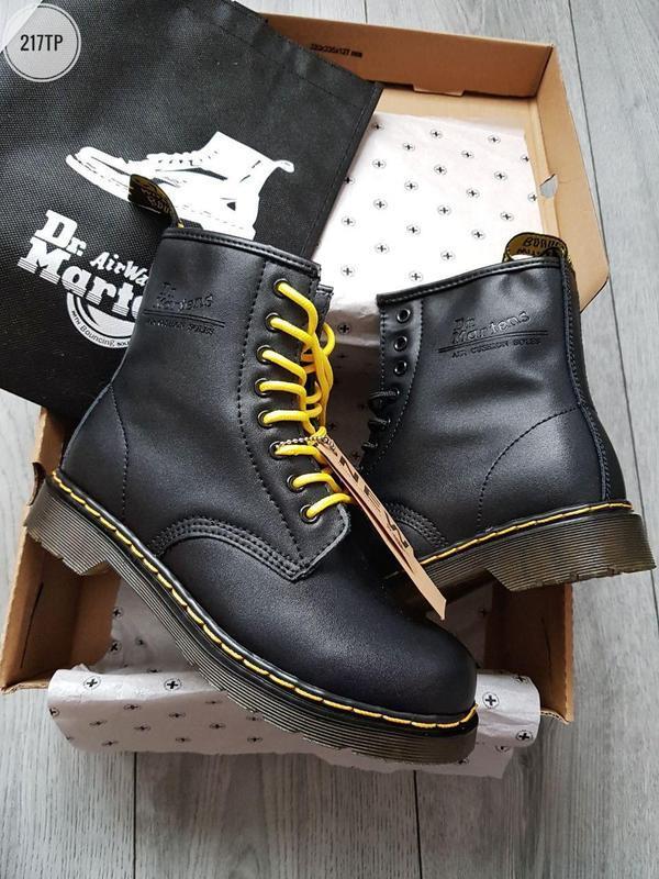 Dr. martens 1460 black, женские зимние кожаные чёрные ботинки/...