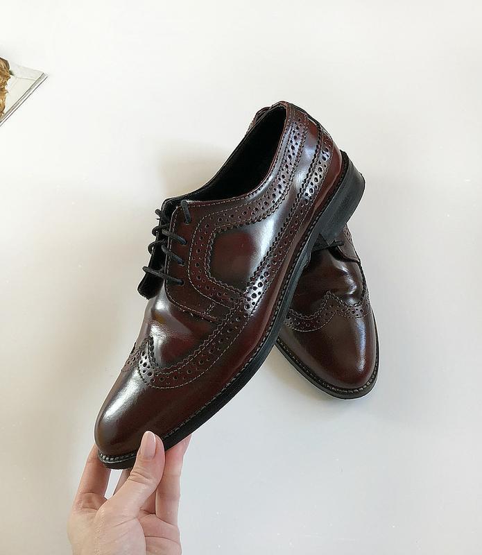 Обалденные натуральные кожаные туфли броги asos (дерби, лоферы)