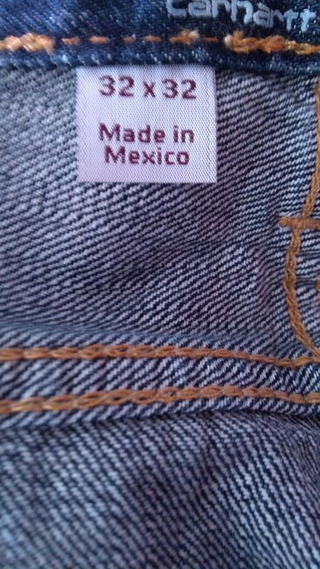 Джинсы мужские carhartt b315 straight-fit denim jeans оригинал... - Фото 6