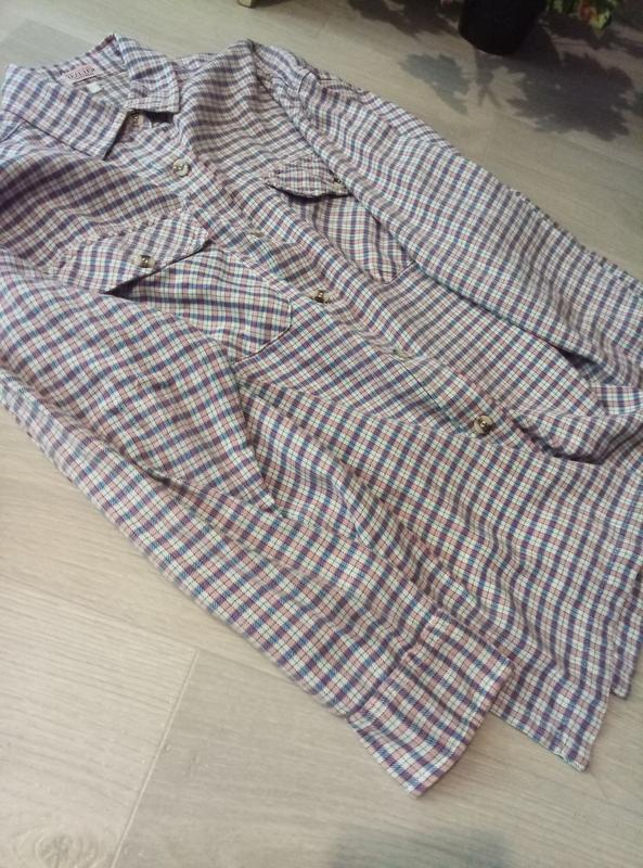 Рубашка клетка оверсайз cotton traders