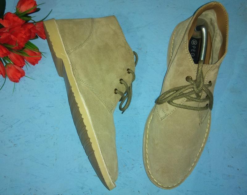 Новые замшевые демисезонные ботинки pegasus р 46 италия