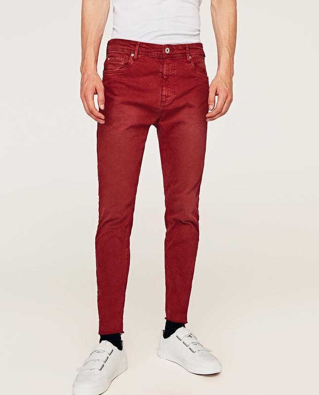 Чоловічі джинси carrot fit bull denim zara man