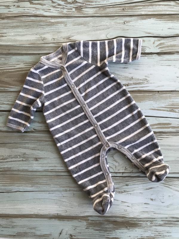 Тёплый флисовый махровый человечек для новорожденных