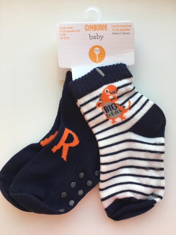 Носочки gymboree с тормозами на 6-12 месяцев