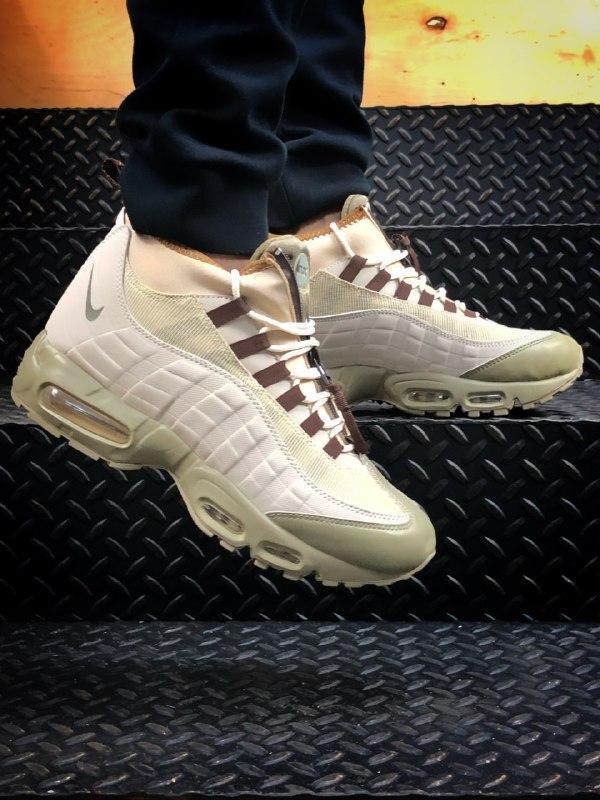 Шикарные мужские зимние термо кроссовки nike air max 95 sneake...
