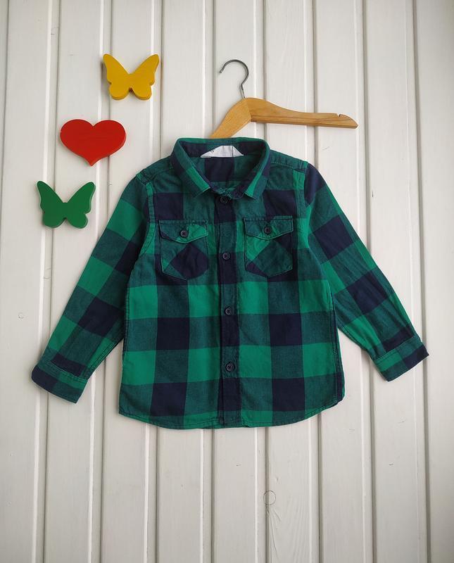 2-3 года, рубашка теплая,h&m