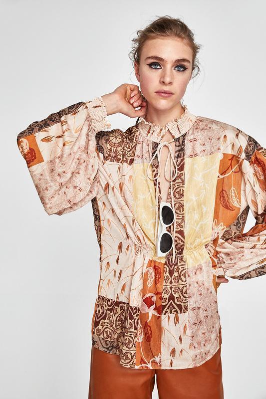 Блуза оверсайз zara
