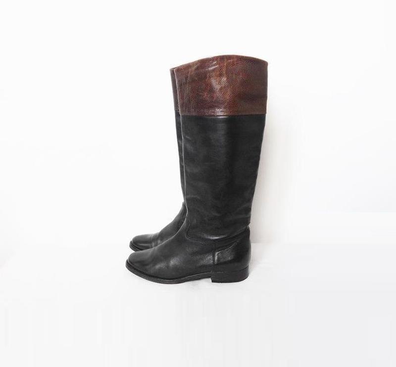 Осенние демисезонные натуральные классические высокие кожаные ...