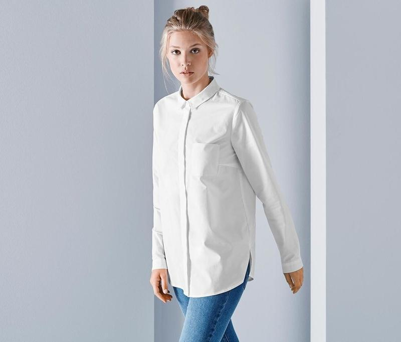 Шикарная белая рубашка-блуза от tcm tchibo, германия,евро р-р ...