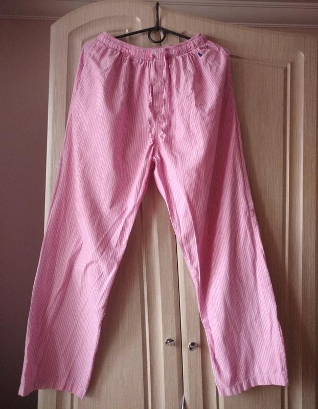 Пижамные свободные мужские штаны для сна 100% хлопок polo ralp...