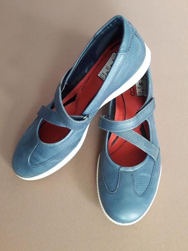 Туфли мокасины ecco 40 размер