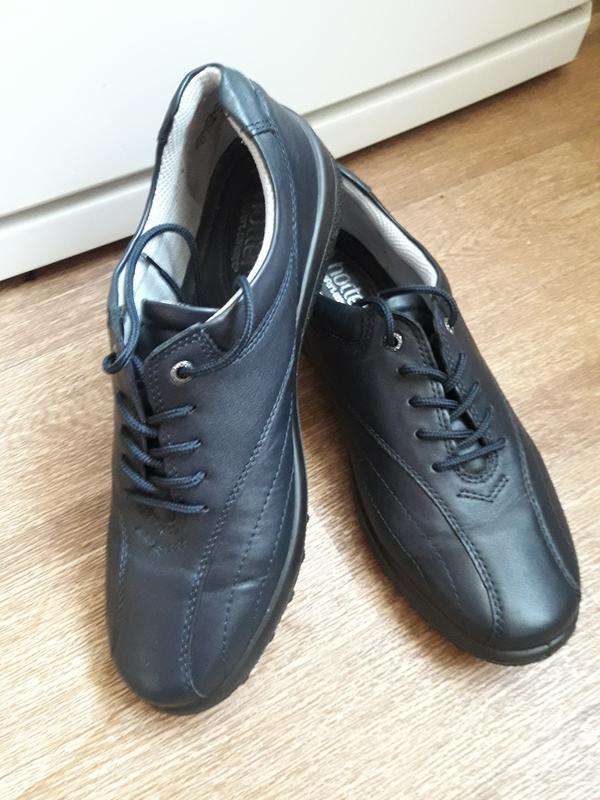 Кожаные туфли на шнурках hotter 38 размер - Фото 2