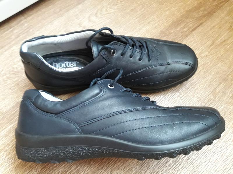 Кожаные туфли на шнурках hotter 38 размер - Фото 3