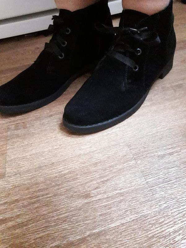 Фирменные замшевые демисезонные ботинки bata 40 размер