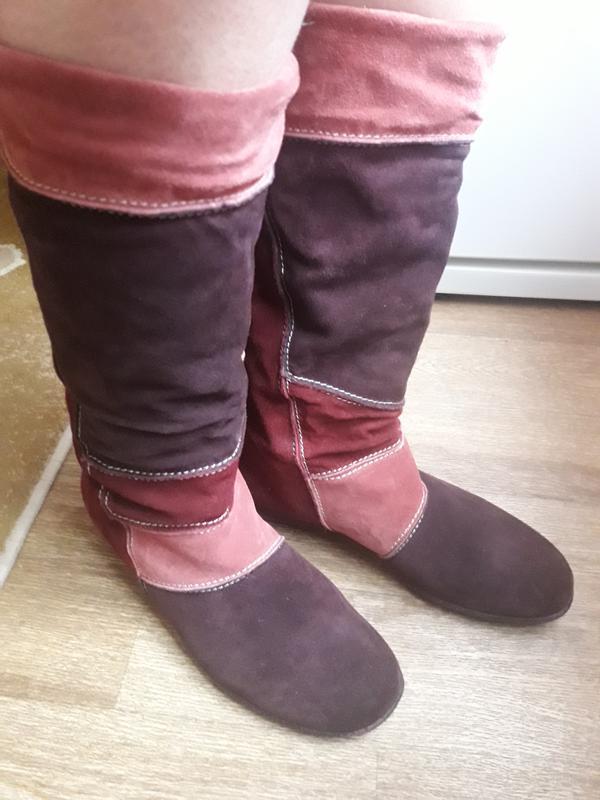 Замшевые утеплённые сапоги  carina 40 размер