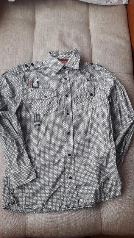Рубашка в красивый принт на рост 158-164