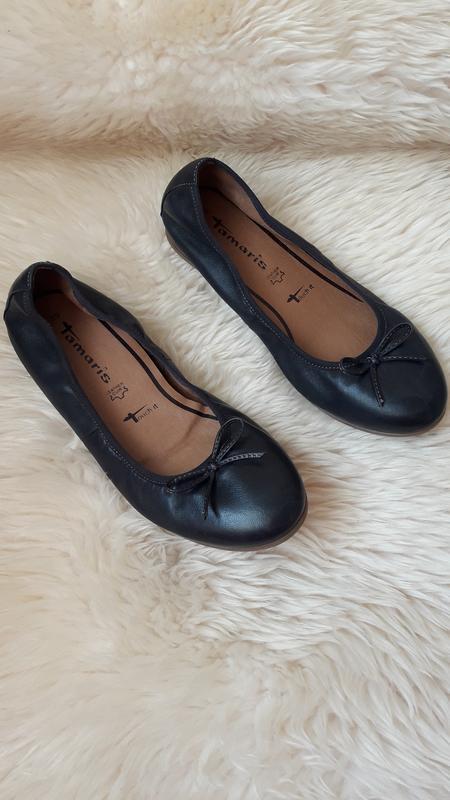 Кожаные туфельки балетки tamaris 39 размер