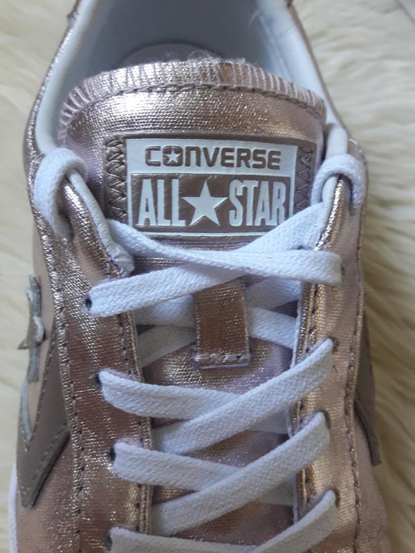 Золотистые кеды converse 42 размер - Фото 4