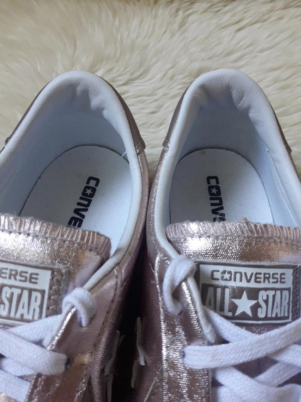 Золотистые кеды converse 42 размер - Фото 5