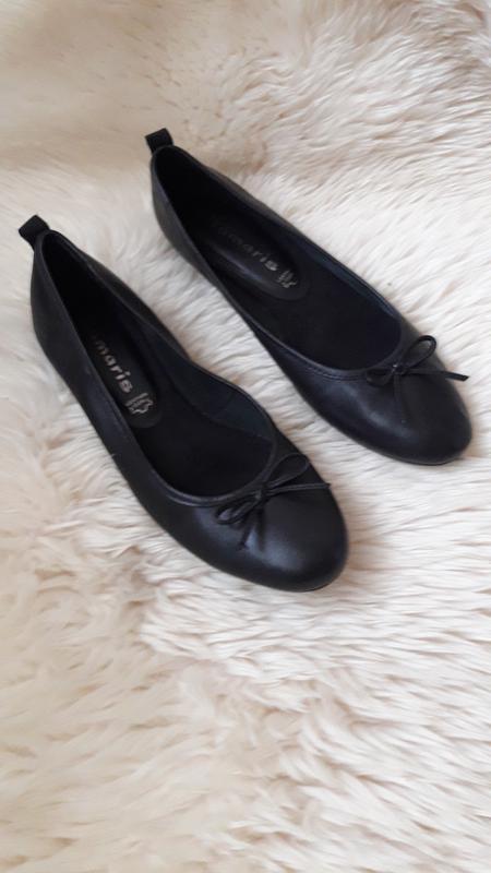 Кожаные туфли балетки tamaris 39 размер
